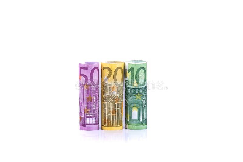 欧元金钱钞票背景 免版税库存图片