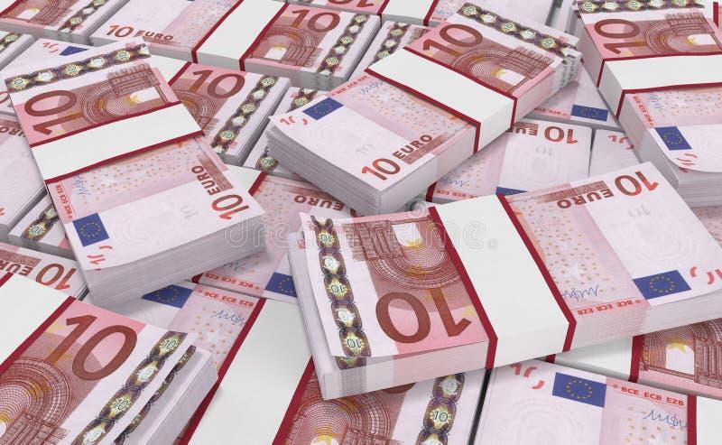 10欧元金钱 欧洲现金背景 欧洲金钱钞票 皇族释放例证