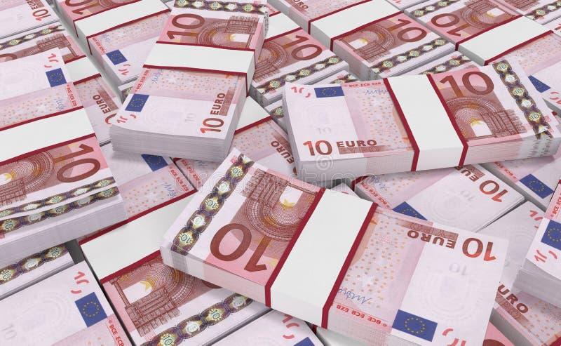 10欧元金钱 欧洲现金背景 欧洲金钱钞票 向量例证