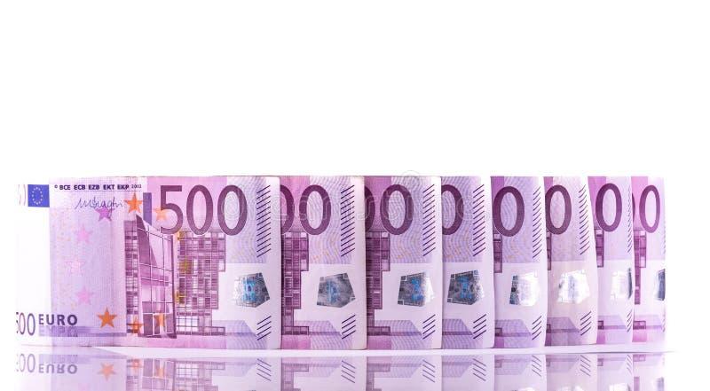 欧元金钱500钞票背景 库存照片