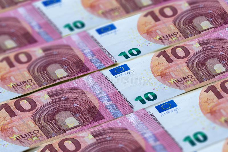 欧元钞票背景 欧盟金钱  免版税图库摄影