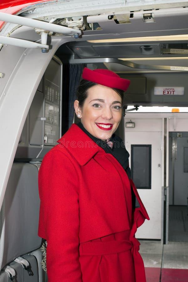 欧内斯特航空公司空中客车A320-200机舱乘员组 库存图片