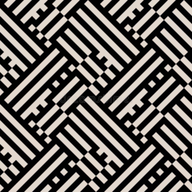 欧普艺术无缝的几何条纹图形 皇族释放例证