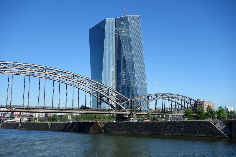 欧洲中央银行ECB在法兰克福 ?? 库存照片