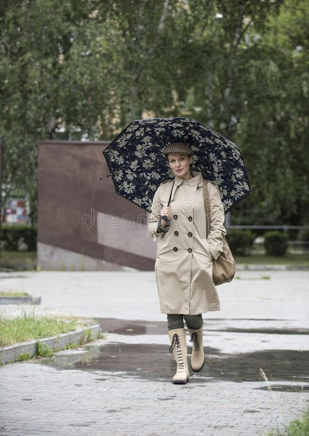 欧洲出现的美女 免版税图库摄影