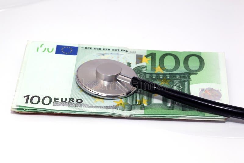 欧洲听诊器 免版税库存图片