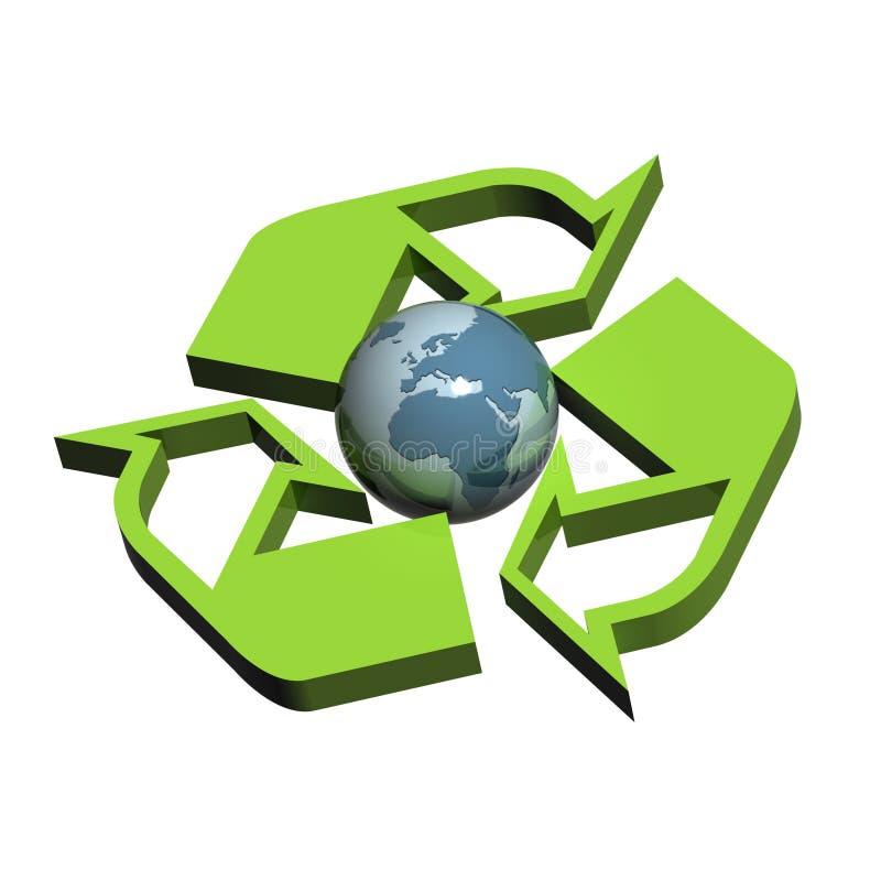 欧洲回收符号版本 向量例证