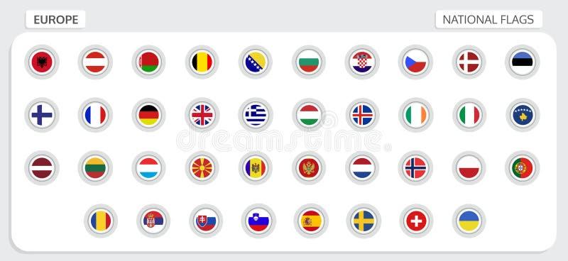欧洲国旗 皇族释放例证