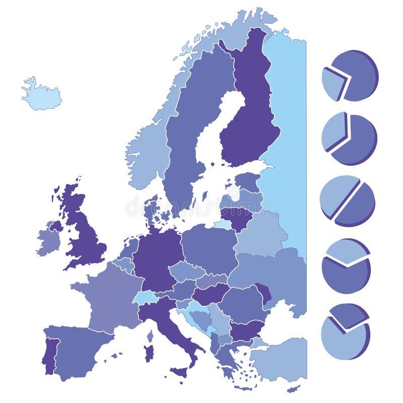 欧洲地图  库存例证