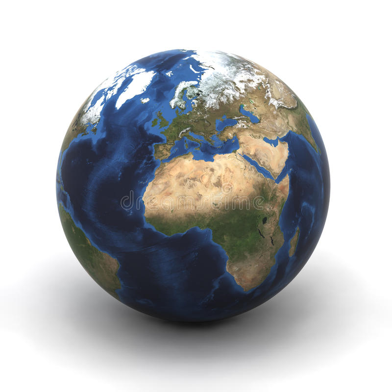欧洲地球 向量例证
