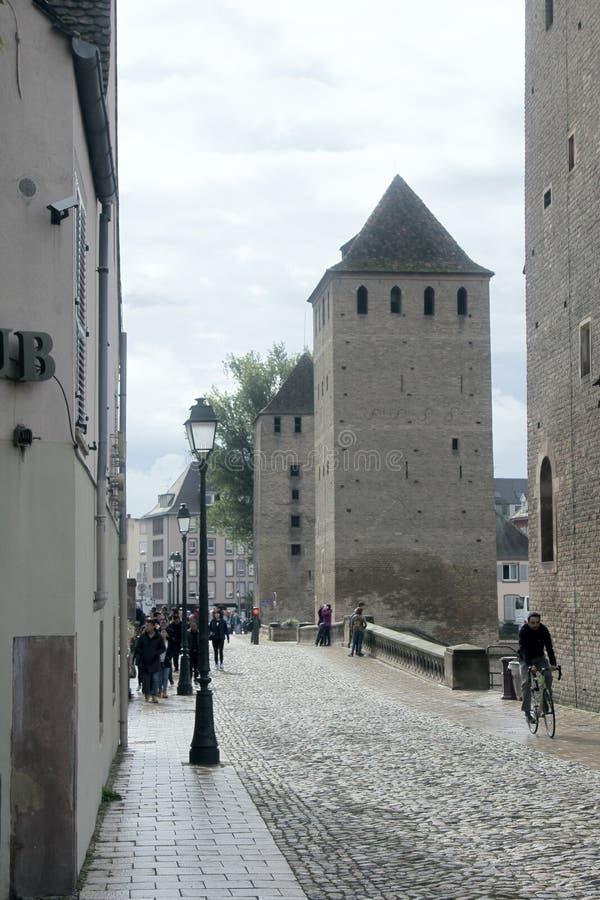欧洲城市古老街道  免版税库存照片