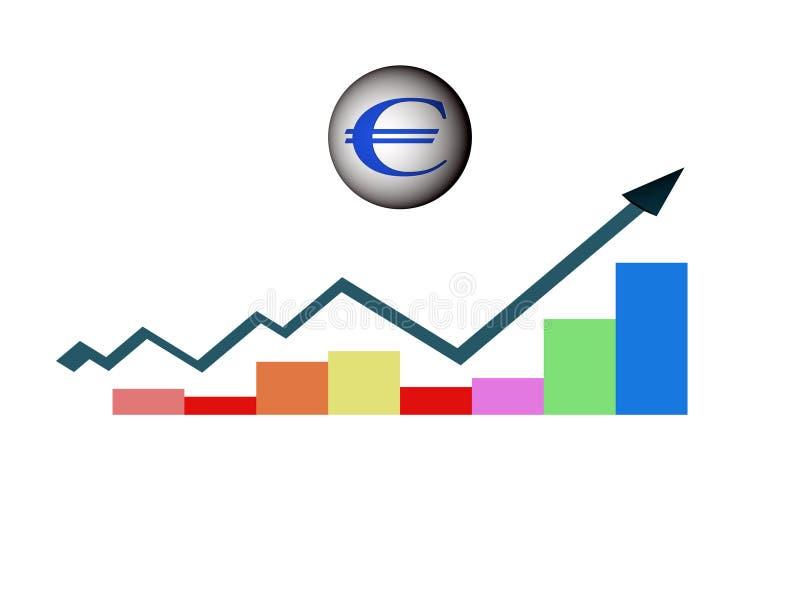 欧洲增长 向量例证