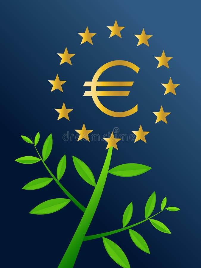 欧洲增长 皇族释放例证