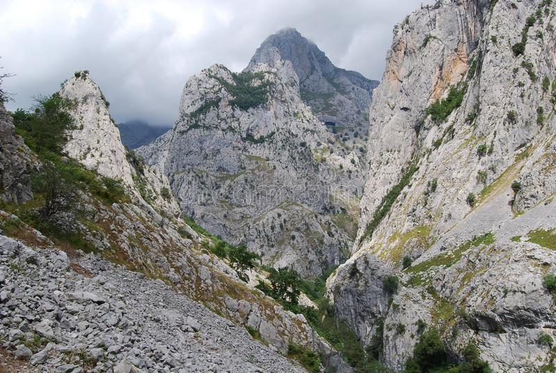 欧洲峰顶,关心路线  库存图片