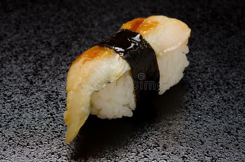 欧洲康吉鳗的寿司 免版税库存图片