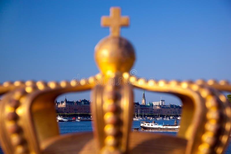 欧洲斯德哥尔摩瑞典视图江边 库存图片