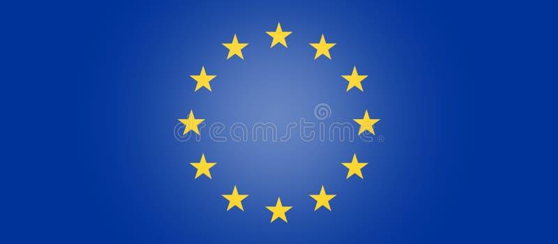 欧洲旗子标志背景创造性的3d例证 库存例证