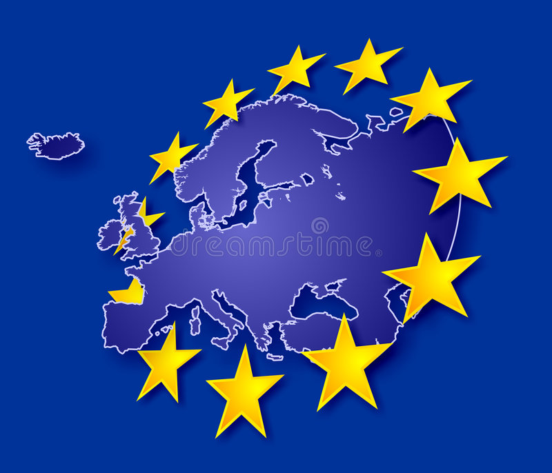 欧洲星形 库存例证