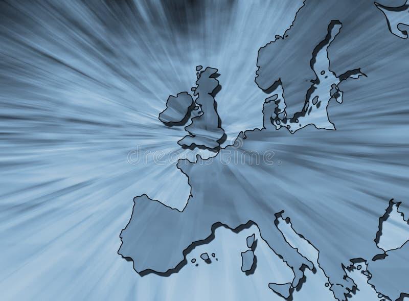 欧洲映射分级显示 库存例证