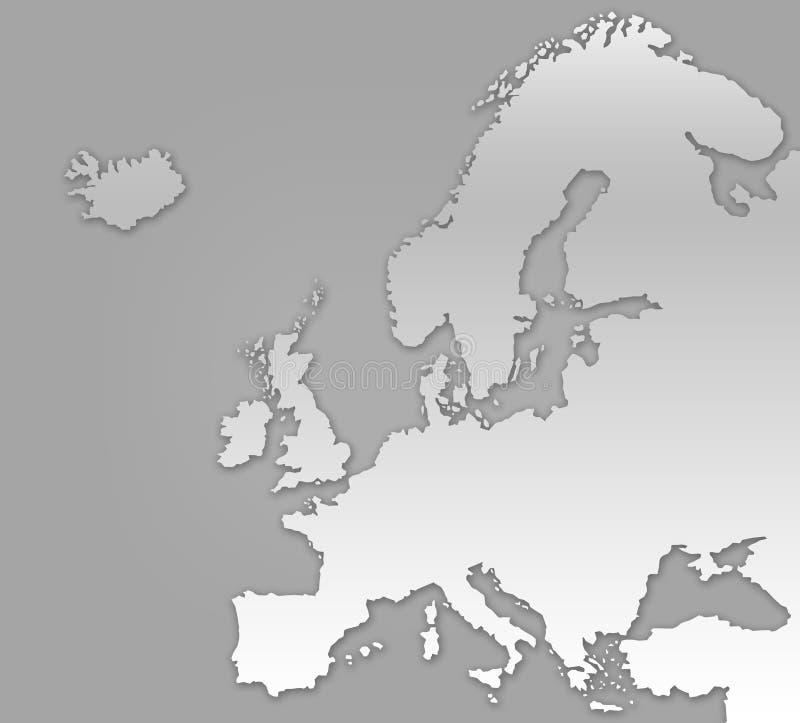 欧洲映射 库存例证