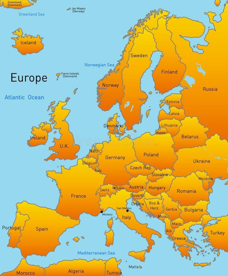 欧洲映射  皇族释放例证