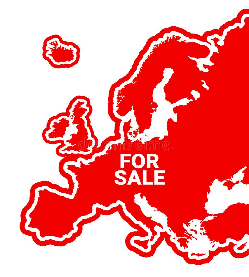 欧洲是待售 向量例证