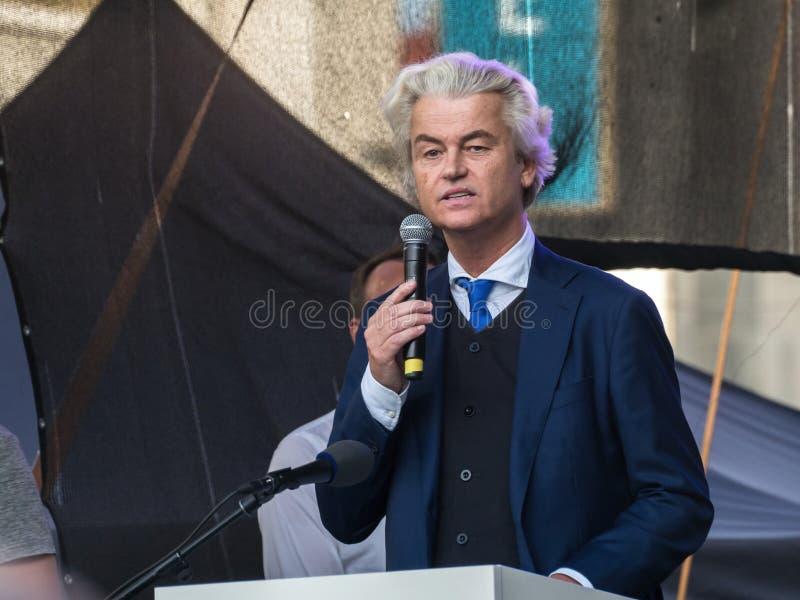 欧洲极端分子在布拉格 免版税库存照片