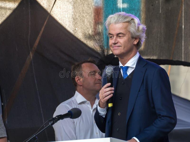 欧洲极端分子在布拉格 免版税库存图片