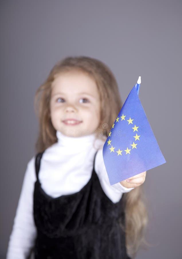 欧洲标志女孩少许联盟 免版税图库摄影