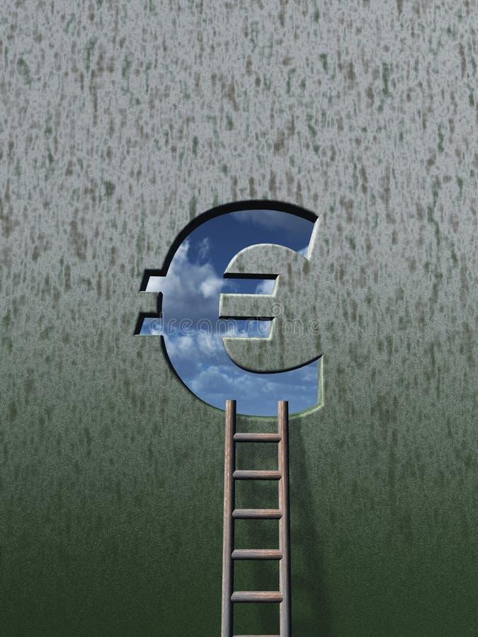 欧洲梯子 库存例证