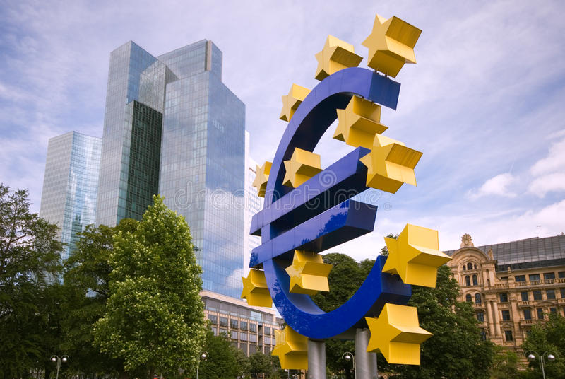 欧洲法兰克福符号 免版税库存照片