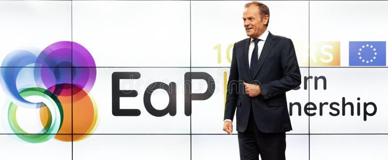 欧洲理事会唐纳德・图斯克总统 免版税库存图片