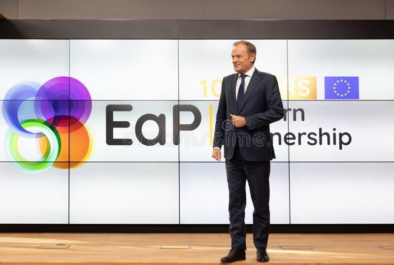 欧洲理事会唐纳德・图斯克总统 免版税库存照片