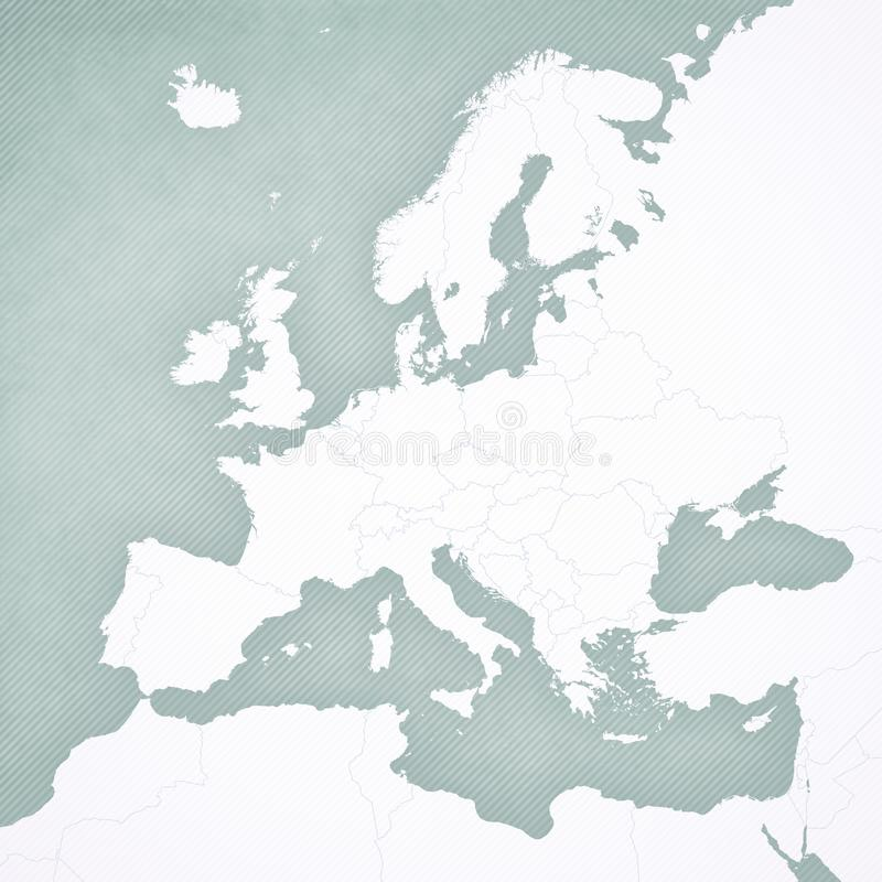 欧洲空白的地图  向量例证