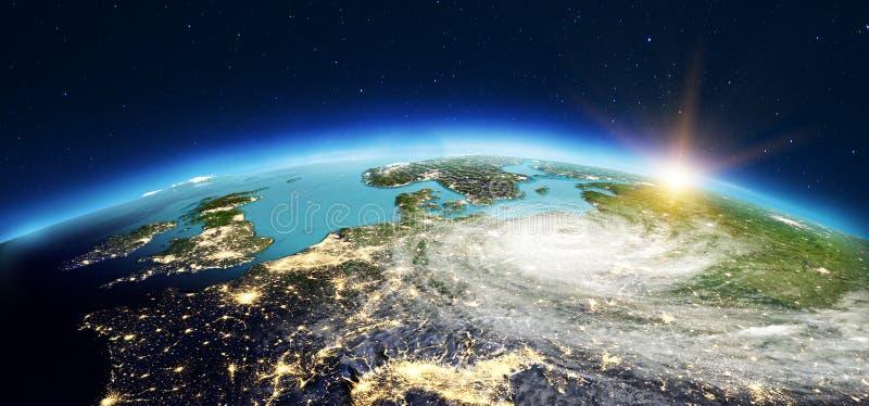 欧洲空间 3d翻译 向量例证