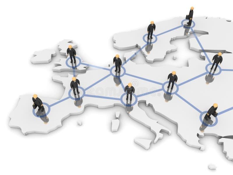 欧洲网络 向量例证