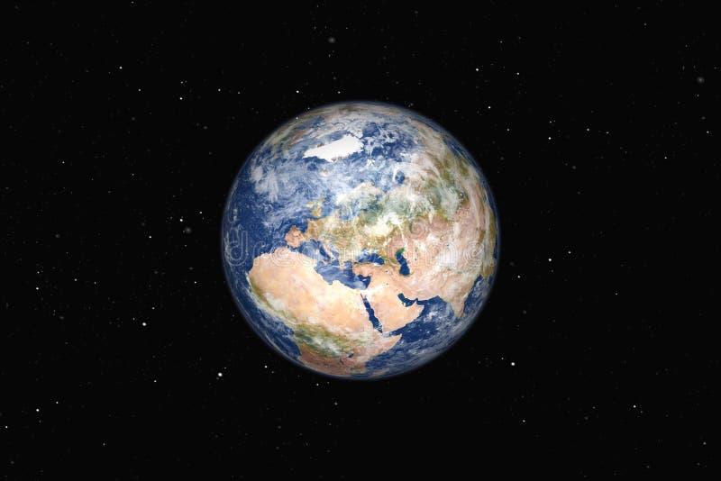 欧洲美丽的大地球  库存例证