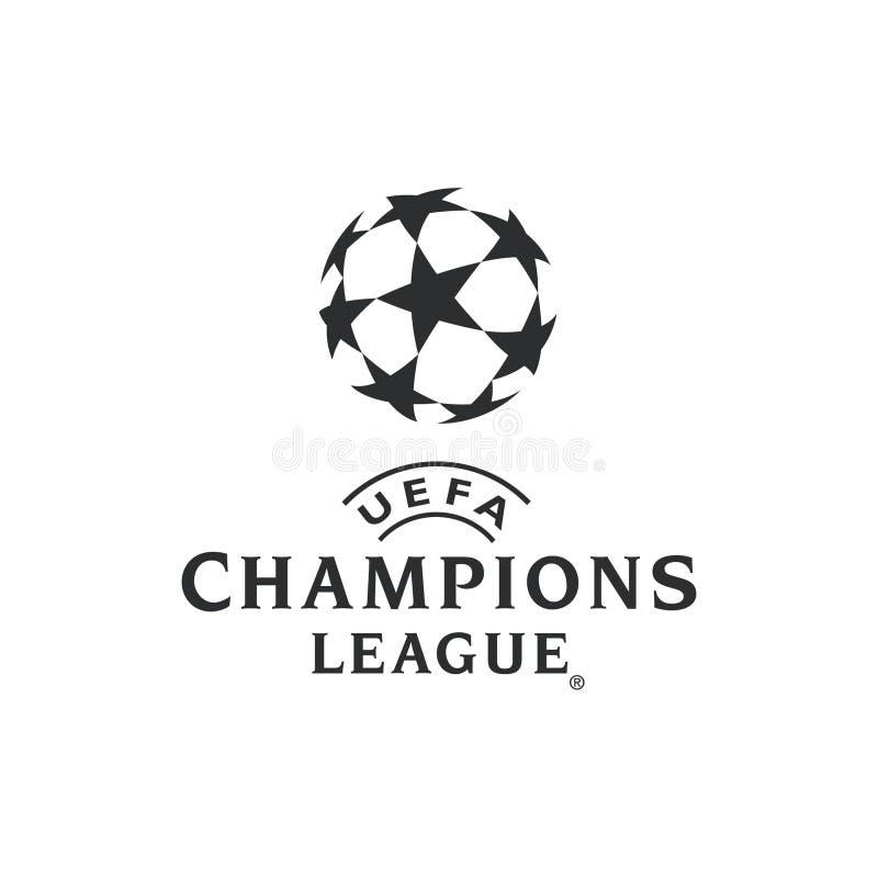 欧洲联赛冠军杯商标 向量例证