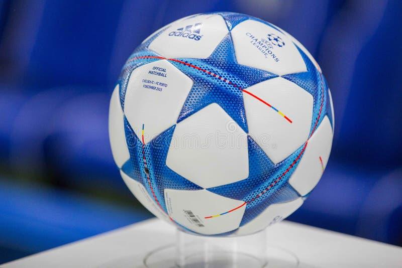 欧洲联赛冠军杯球 免版税图库摄影