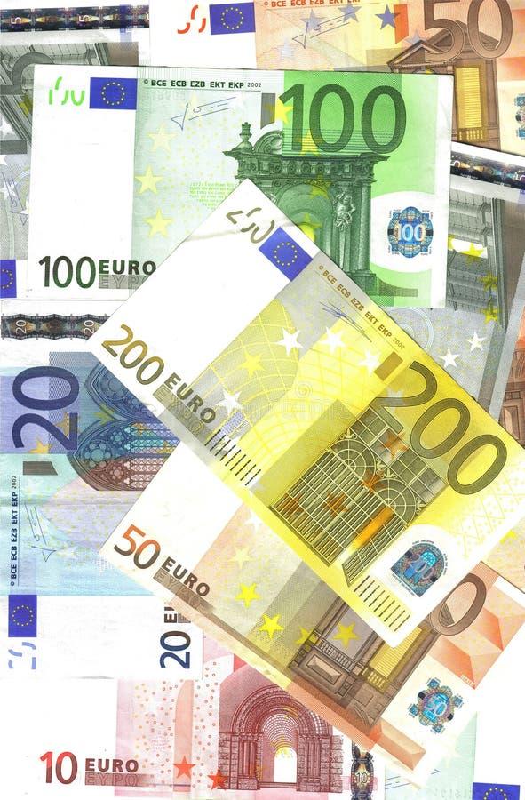 欧洲背景的钞票 库存照片