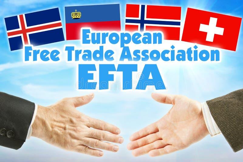欧洲自由贸易联盟,欧洲自由贸易联盟 欧洲有些状态经济联合  免版税库存图片