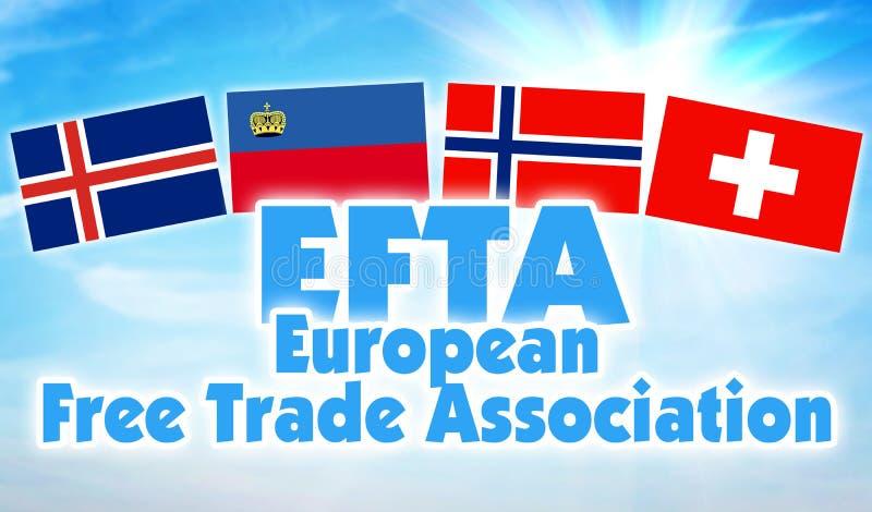 欧洲自由贸易联盟,欧洲自由贸易联盟 欧洲有些状态联合  库存图片
