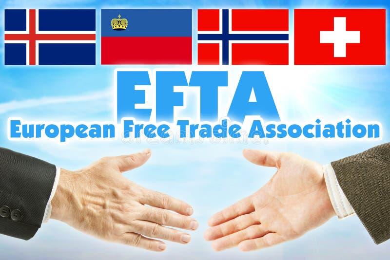 欧洲自由贸易联盟,欧洲自由贸易联盟 欧洲某些国家的联盟  库存图片