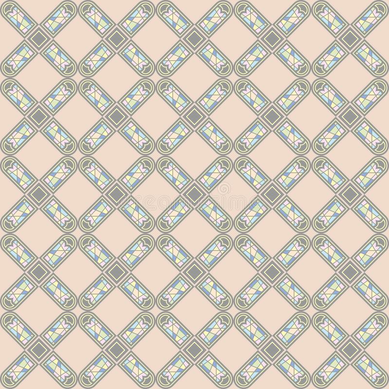 欧洲装饰样式的传染媒介无缝的样式 库存例证