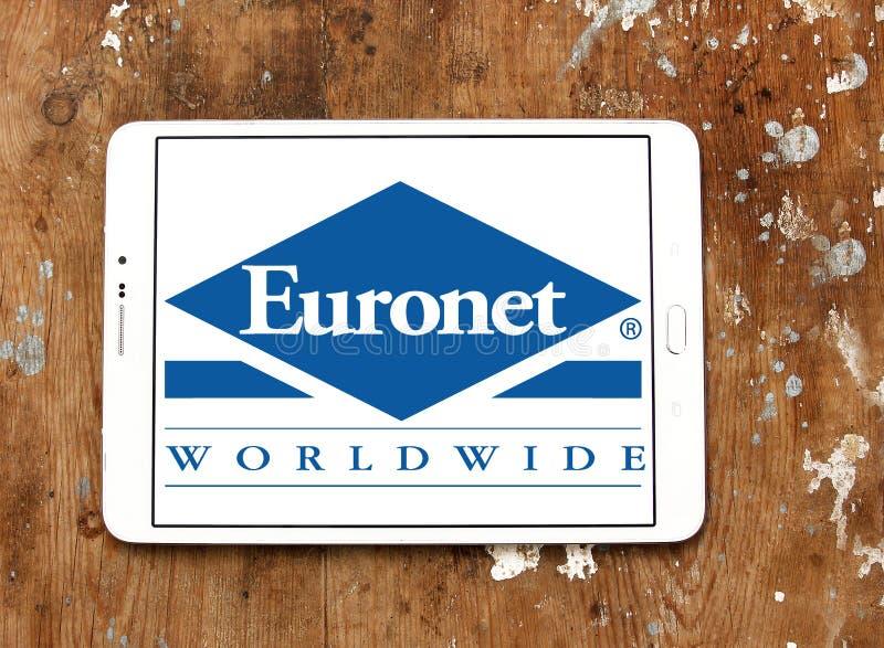 欧洲计算机网全世界金融服务公司商标 库存图片
