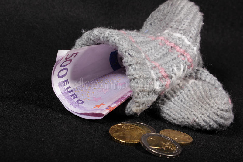 欧洲货币袜子股票 免版税图库摄影