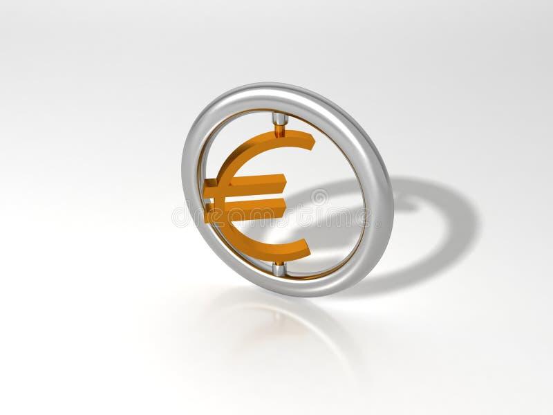 欧洲货币 向量例证