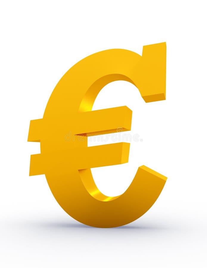 欧洲金黄符号 向量例证