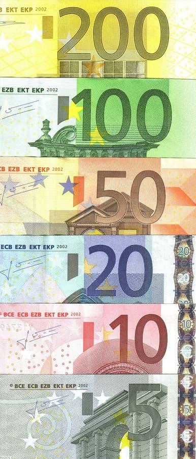 欧洲钞票的详细资料 免版税库存图片