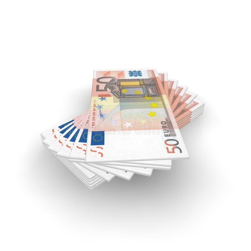 欧洲风扇货币 向量例证